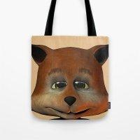 A Happy Little Fox Tote Bag