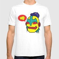 cheeze talk Mens Fitted Tee White SMALL