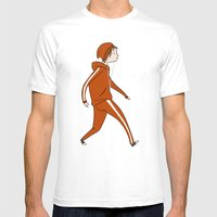 Take A Walk Mens Fitted Tee White SMALL