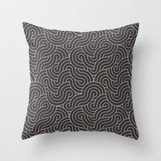 SWIRL / coffee Throw Pillow