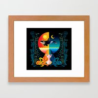 Dream - Sea Day & Night Framed Art Print