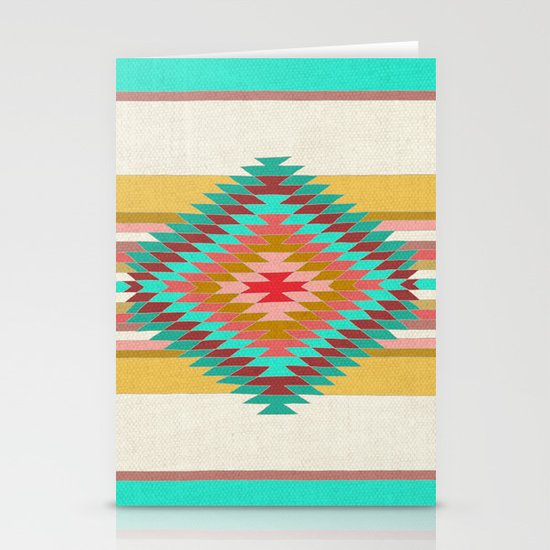 FIESTA (teal) Stationery Card