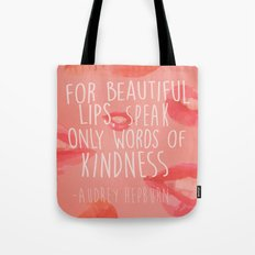 beautiful lips Tote Bag