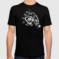 Tick Tock Mens Fitted Tee Black SMALL