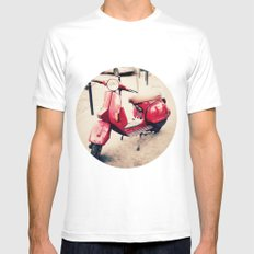 vespa SMALL White Mens Fitted Tee