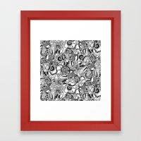 Tentacles Mono Framed Art Print