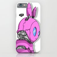 RoboBunny: Heroes are made not born (pink edition) iPhone 6 Slim Case
