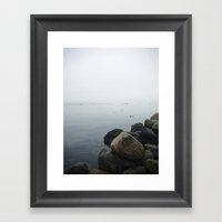 Ocean Fog Framed Art Print