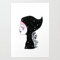 Goddess of nights Art Print