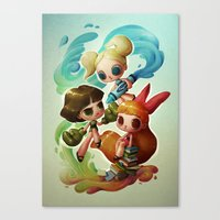 Powerpuff Girls (re-imagined) Canvas Print