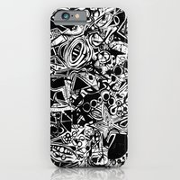 iPhone & iPod Case featuring Black/White #1 by The Bun