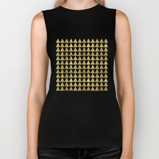 Triangles Black&Gold Biker Tank