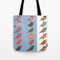 Fun Finches Tote Bag