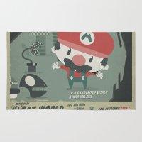 Mario Bros 4 Fan Art Rug