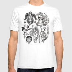 Lesser Alchemy White Mens Fitted Tee SMALL