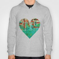 on my street -turquoise abstract Hoody