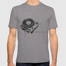 I Can Dig Elvis Mens Fitted Tee Tri-Grey SMALL