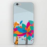 Orange And Trees iPhone & iPod Skin