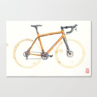 Coffee Wheels - Salsa Warbird Canvas Print