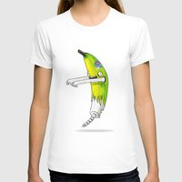 Banana Zombie Womens Fitted Tee White SMALL