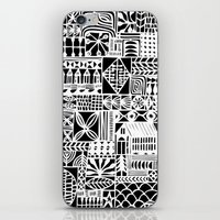 Black And White Icons iPhone & iPod Skin