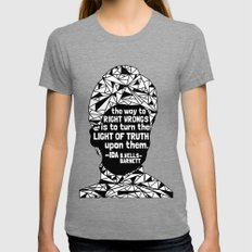 Ida B. Wells-Barnett - Black Lives Matter - Series - Black Voices Womens Fitted Tee Tri-Grey SMALL