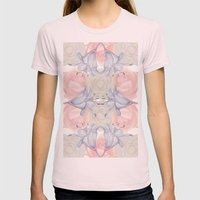 Wildflower symmetry Womens Fitted Tee Light Pink SMALL