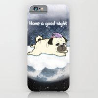 iPhone & iPod Case featuring Sleepy Little Pug by Tetchan