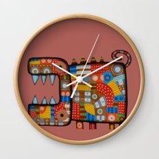 Dog hippo Wall Clock