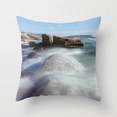 Noordhoek Beach - Long Exposure Seascape Throw Pillow