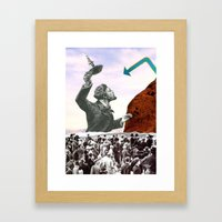 Where The Search Always … Framed Art Print