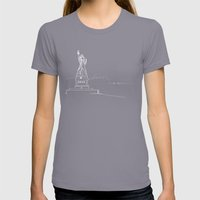 New York By Friztin Womens Fitted Tee Slate SMALL
