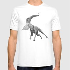 dog White Mens Fitted Tee SMALL