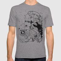 CARPE DIEM SOUS LES MERS Mens Fitted Tee Athletic Grey SMALL