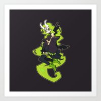 Skulker Art Print