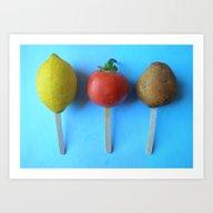 Art Print featuring Lemon Head, Tomato Head,… by Srartwork