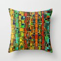 Abstract Geometric Fabric Throw Pillow
