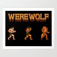 Unleash The Beast- Werew… Art Print