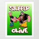 Stuffed Olive Art Print