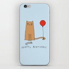 Cat Birthday iPhone & iPod Skin