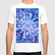 Fractal Imagination II White Mens Fitted Tee SMALL