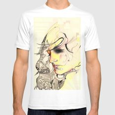 self Mens Fitted Tee SMALL White