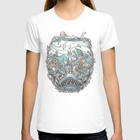 What Lurks Beneath Womens Fitted Tee White SMALL