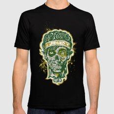 Brainz Zombie Print Mens Fitted Tee SMALL Black