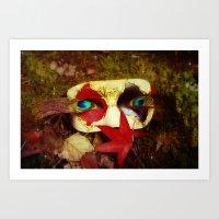 Woodland Masquerade Art Print