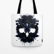 Rorschach skull dark Tote Bag