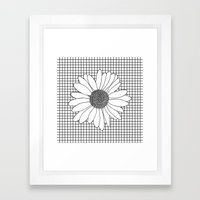 Daisy Grid Framed Art Print