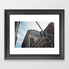new york city, stoplight #2 Framed Art Print