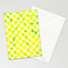 Lattice Lime Stationery Cards