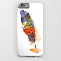 feather iPhone & iPod Cases featuring feather by emegi
